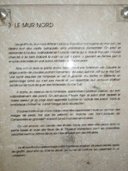Eglise Saint-Martin - English: Moings: information board in the church (3)
