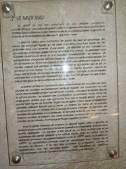 Eglise Saint-Martin - English: Moings: information board in the church (4)