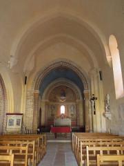 Eglise Saint-Saturnin - English: Mosnac (Charente-Maritime), Saint-Saturnin, nave