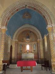 Eglise Saint-Saturnin - English: Saint-Saturnin in Mosnac sur Seugne: altar and apse