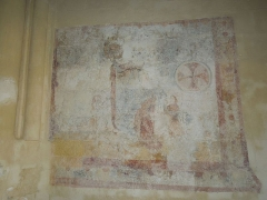 Eglise Saint-Saturnin - English:   Mosnac sur Seugne: medieval mural in the village church Saint-Saturnin
