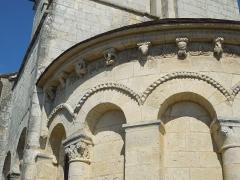 Eglise Saint-Saturnin - English: Mosnac (Charente-Maritime): exterior detail at the apse of the village church Saint-Saturnin