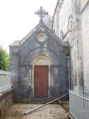 Eglise Saint-Laurent - English: Plassac, Église Saint-Laurent de Plassac, chapel on the northern side