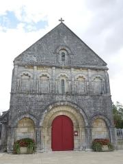 Eglise Saint-Laurent - English: Plassac, Église Saint-Laurent de Plassac, west facade