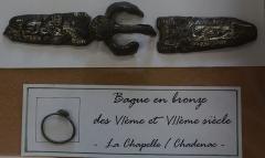 Chapelle Saint-Gilles - Français:   Présenté au Musée archéologique de Pons, artisanat du VIe siècle.