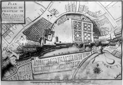 Chapelle Saint-Gilles - Français:   Visible au Musée archéologique de Pons. Plan de 1714.