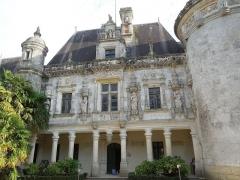Château des Egreteaux, dit château d'Usson - English: Château d'Usson, courtyard facade of the southern wing