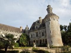 Château des Egreteaux, dit château d'Usson - English: Château d'Usson, southern wing, seen from the west