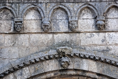 Eglise Saint-Pierre - Deutsch: St-Pierre de Pont-l'Abbé-d'Arnoult (17), Detail Blendarkaden
