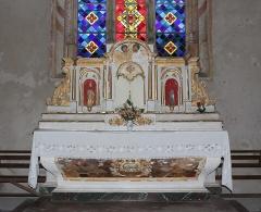 Eglise Saint-Vincent - Français:   Maître-autel de l\'église Saint-Vincent de Réaux, Charente-Maritime, Poitou-Charente, France.