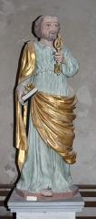 Eglise Saint-Vincent - Français:   Statue de saint Pierre dans l\'église Saint-Vincent de Réaux, Charente-Maritime, Poitou-Charente, France.