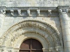 Eglise Saint-Trojan - Français:   Voussures du portail, église de Rétaud