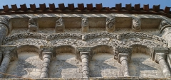 Eglise Notre-Dame de l'Assomption - English: Rioux (Charente-Maritime, France) - Notre-Dame church - corbel table