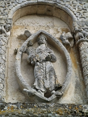 Eglise Notre-Dame de l'Assomption - English: The Madonna and Child in a mandorla (XIIth century) - Church Notre-Dame - Rioux (Charente-Maritime, France)