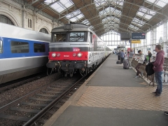Gare -  SNCF: La modernisation de la ligne Nantes-Bordeaux débutera (enfin) en 2019.  La BB 67445  a été mise en service le 13 novembre 1970.