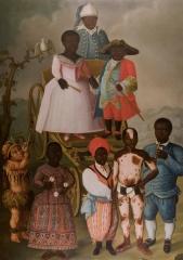 Hôtel de Fleuriau - English: Mascarade nuptiale est un tableau de José Conrado Roza peint en 1788 et nommé actuellement