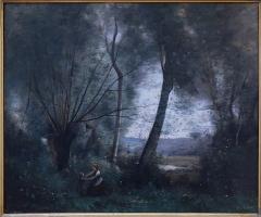 Hôtel de la Bibliothèque et du Musée - English: Jean-Baptiste Camille Corot (1796-1875). Landscape (v. 1866?). Musée des beaux arts de La Rochelle.