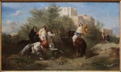 Hôtel de la Bibliothèque et du Musée - English: Eugène Fromentin (La Rochelle 1820 - 1876). Arab horsemen (or) The encounter. Oil on wood panel, circa 1857. Gift of SAA, 1862. Museum of Fine Arts of La Rochelle.
