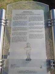 Eglise Saint-Vivien - English: Rouffignac, church Saint-Christophe, information board