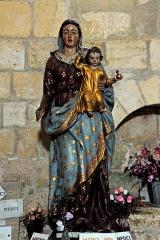 Eglise Saint-Brice - Deutsch: Saint-Bris-de-Bois, Madonna mit Kind, 12.Jh., in Kapelle 1