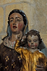 Eglise Saint-Brice - Deutsch: Saint-Bris-de-Bois, Madonna mit Kind, Detail