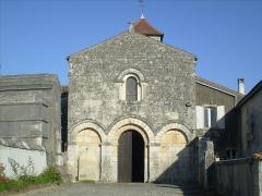 Eglise Saint-Brice -  Façade de l'église romane