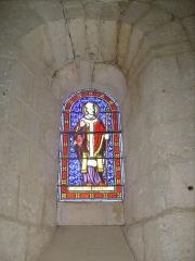 Eglise Saint-Brice -  Vitrail du choeur, Église Saint-Brice de Saint-Bris-des-Bois