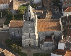 Eglise Saint-Fortunat -  Vue aérienne sud de l'église de Saint-Fortunat.