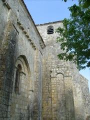 Eglise Saint-Hippolyte - Français:   Clocher de l\'église de Saint-Hippolyte