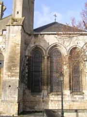 Ancienne abbaye Saint-Jean-Baptiste -  Abbaye royale de Saint-Jean-d'Angély, triplet des vestiges du chevet de l'abbatiale. sur Persée, Yves Blomme, L'ancienne église abbatiale de St Jean d'Angély.