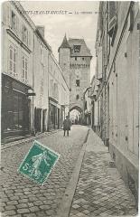 Tour de l'Horloge - Nederlands: Oude briefkaart van de kloktoren in Saint-Jean-d'Angély