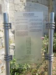 Eglise Sainte-Lheurine - English:   Sainte-Lheurine, information board at the village church