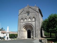 Eglise Saint-Palais -  Façade de l'église de Saint-Palais-de-Phiolin