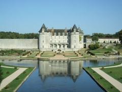 Château de la Rochecourbon - Deutsch:   Gartenseite des Schloss La Roche-Courbon