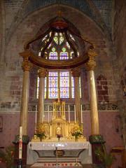 Eglise Saint-Porchaire -  Baldaquin dans l'église