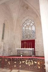 Eglise Saint-Pallais - Français:   Chœur de l\'église St-Pallais et grille liturgique du XVIIIe siècle.