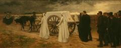 Maison de l'Echevinage - Français:   Enterrement d'une jeune fille à Etricourt - tableau de Georges Paul François Laurent Laugée