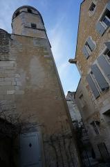 Maison de l'Echevinage - Français:   à Saintes, la tour de l\'horloge du musée de l\'Echevinage.