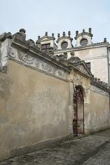 Ancienne seigneurie des Rohan - Deutsch: Hôtel des Rohan in Soubise im Département Charente-Maritime (Nouvelle-Aquitaine/Frankreich), heute Hôtel de ville (Rathaus); Mauer mit Portal