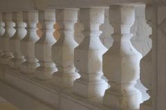 Ancienne seigneurie des Rohan - Deutsch: Hôtel des Rohan in Soubise im Département Charente-Maritime (Nouvelle-Aquitaine/Frankreich), heute Hôtel de ville (Rathaus); Ballustrade im Treppenhaus