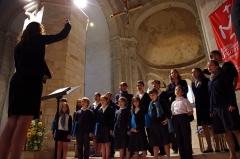 Eglise Notre-Dame - Français:   Les répétitions des Petits Chanteurs de Passy avant le concert dans l\'église Notre-Dame de Surgères en 2011.
