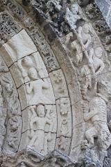 Eglise Sainte-Radegonde - Église Sainte-Radegonde, détail du portail ouest, Fr-17-Talmont-sur-Gironde.