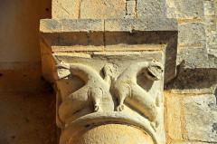 Ruines de l'ancienne abbaye - Deutsch: Abtei Trizay, Kapitell, Faleltiere