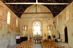 Eglise Notre-Dame - Deutsch: Angigny, Notre-Dame, Schiff, Chorwand