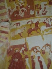 Eglise Notre-Dame -  Fresque de l'église d'Antigny, département de la Vienne (France)