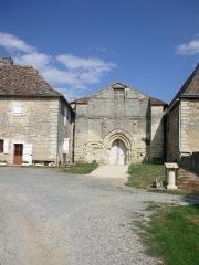 Abbaye de l'Etoile - Deutsch: Kloster L'Étoile, Kirchenfassade