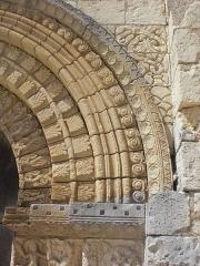 Eglise Notre-Dame - Esperanto: Romanika ornamo en preĝejo de Bouresse