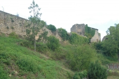 Château - Deutsch:   Château-Larcher,Wehrmauern der Vorburg von O