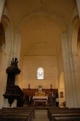 Eglise Notre-Dame - Deutsch:   Château-Larcher, Mittelschiff, Joch 3, Verschlusswand des Chors