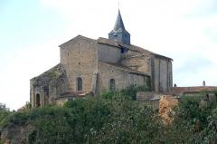 Eglise Notre-Dame - Deutsch:   Château-Larcher, Kirche, ehem. Chorhaupt, von NO